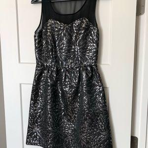 ELLE Silver Foil Dress